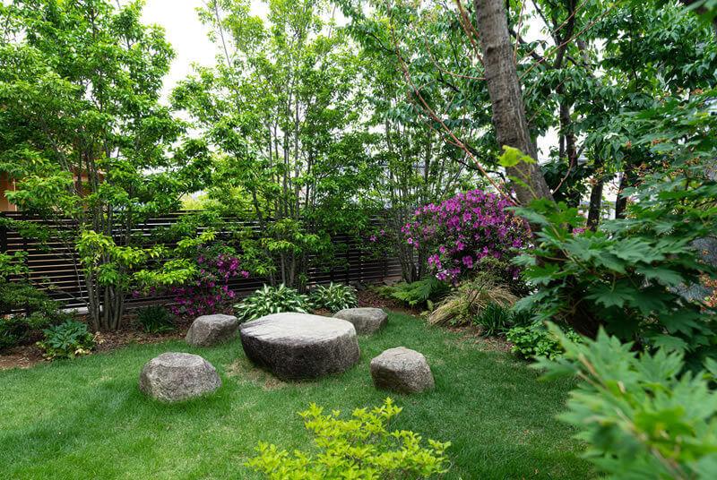雑木の庭の写真