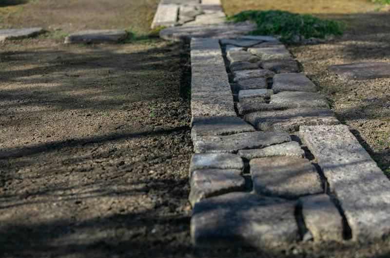 張り石の写真