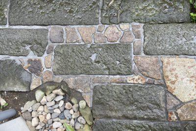 古材のアプローチの補修